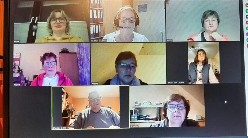 Videokonferenz mit den Kreisdamenleiterinnen